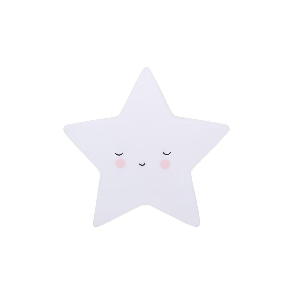 Little Sleepy Star Light by A Little Lovely Company, perfect as a bedside light or night light. Available at Bobby Rabbit.