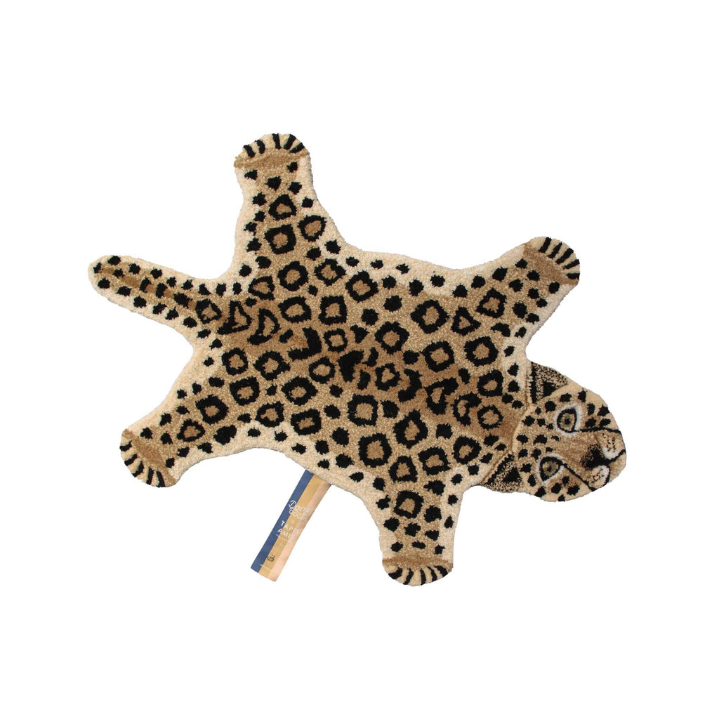 Loony Leopard Rug (Small) by Doing Goods, available at Bobby Rabbit.
