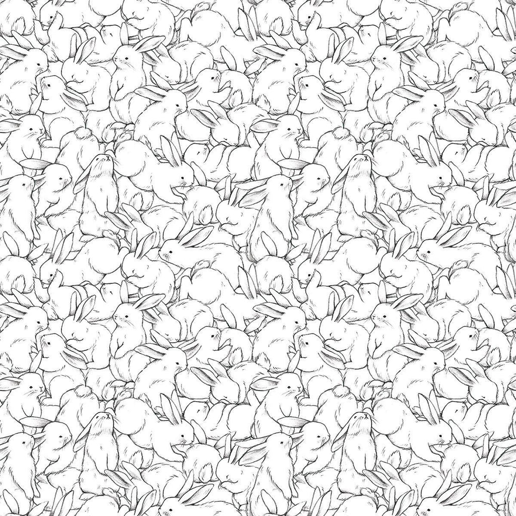 Lots of Bunnies Wallpaper by Lilipinso, available at Bobby Rabbit.