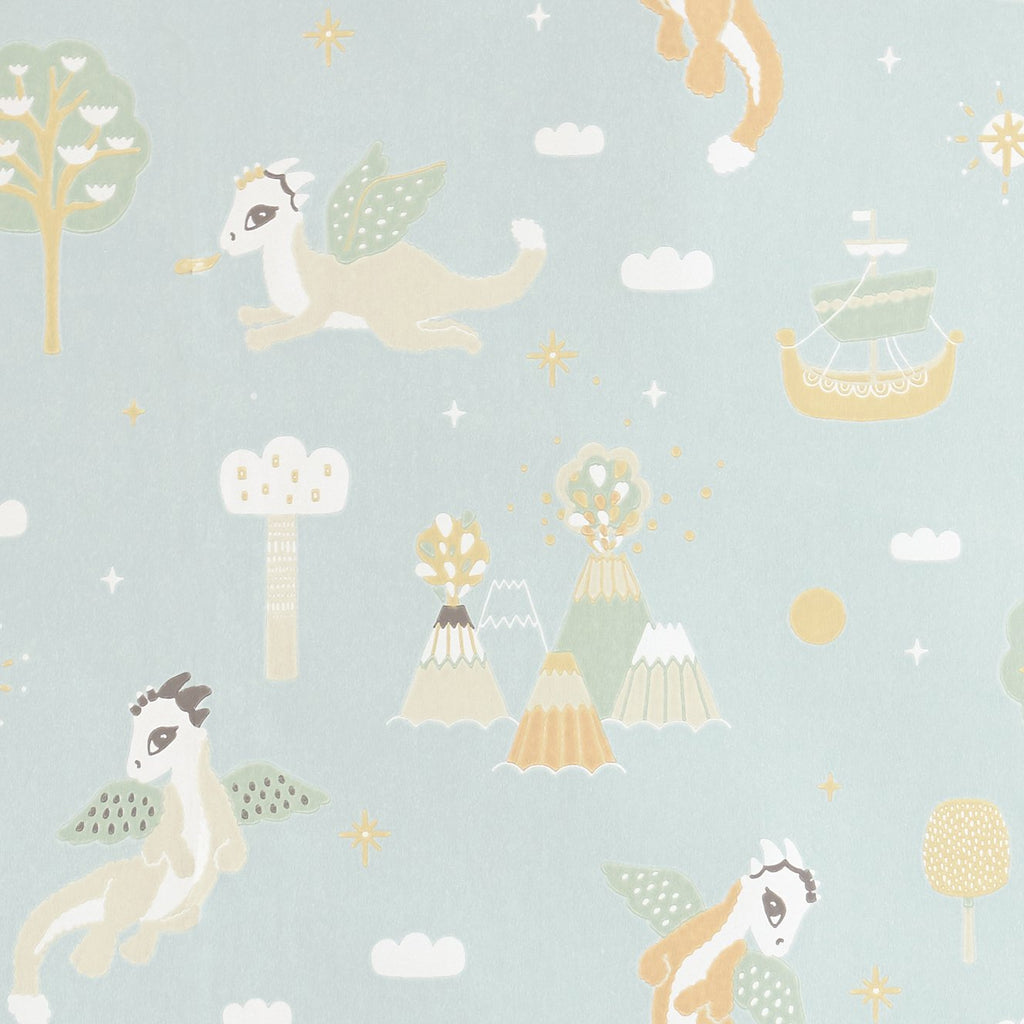 Magical Adventure Wallpaper by Majvillan, available at Bobby Rabbit.