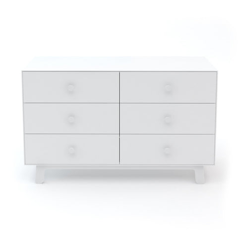 Oeuf Merlin 6 Drawer Sparrow Dresser in White, available at Bobby Rabbit.