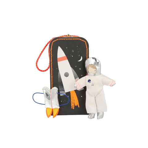 Mini Astronaut Doll and Suitcase by Meri Meri, available at Bobby Rabbit.
