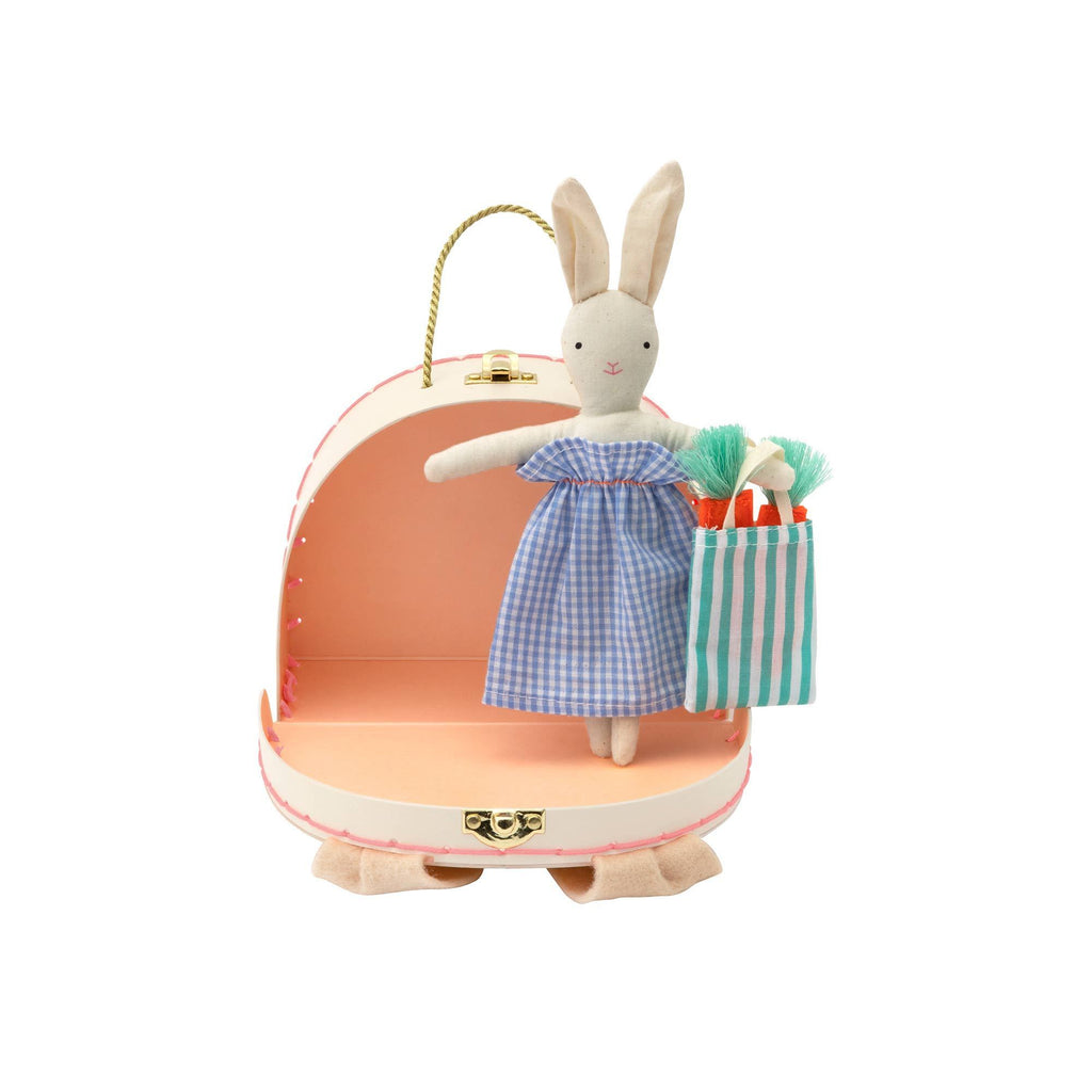 Mini Bunny Doll and Suitcase by Meri Meri, available at Bobby Rabbit.