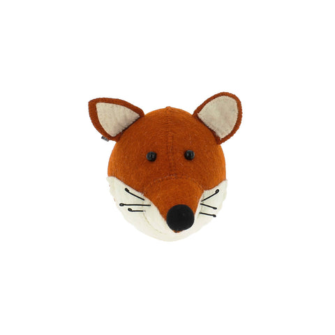 Mini Fox Head to hang on the wall, made by Fiona Walker England and available at Bobby Rabbit.