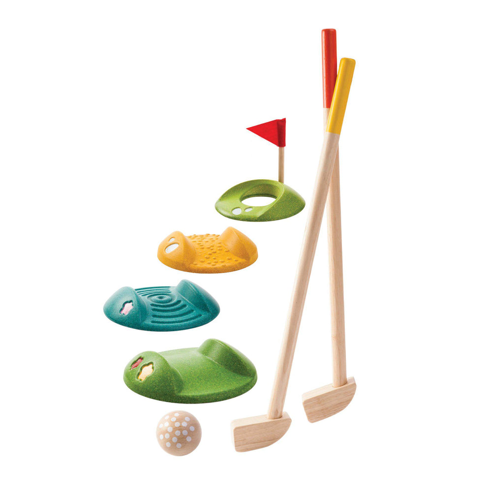 Mini Golf Set by Plantoys, available at Bobby Rabbit.