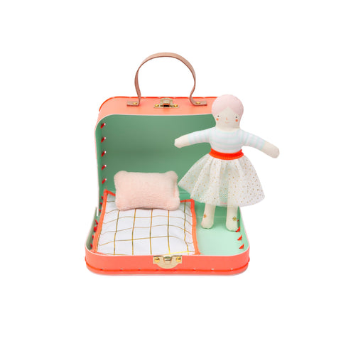 Mini Matilda Doll and Suitcase by Meri Meri, available at Bobby Rabbit.