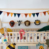 Felt Animal Heads and Savanna Velvet Garland, styled by Bobby Rabbit.