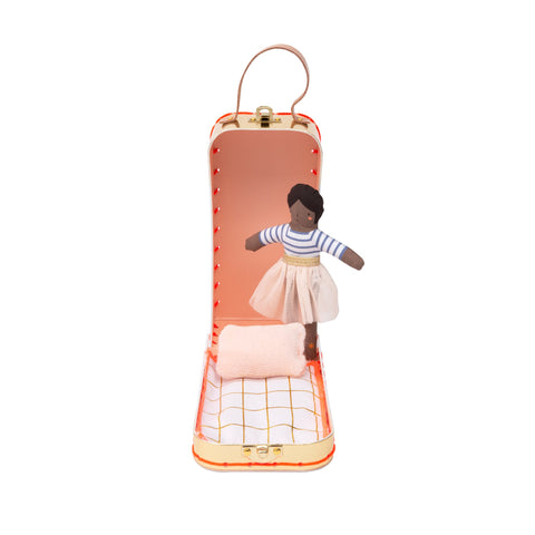 Mini Ruby Doll and Suitcase by Meri Meri, available at Bobby Rabbit.