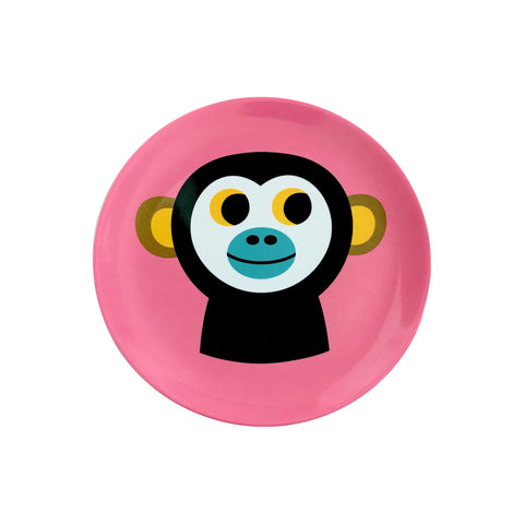 Melamine Monkey Plate, designed by Ingela P. Arrhenius for OMM Design and available at Bobby Rabbit.
