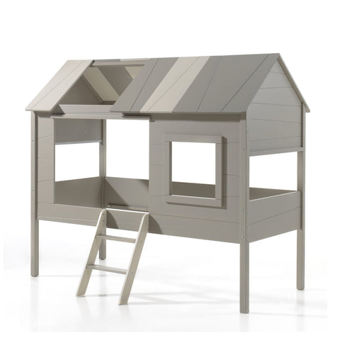 'My Den' Grey/Beige Cabin Bed in Single Size by Vipack, available at Bobby Rabbit.