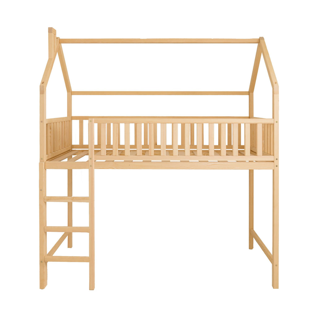 Children's Treehouse Loft Bed in Single Size by Sweet Home From Wood, available at Bobby Rabbit.