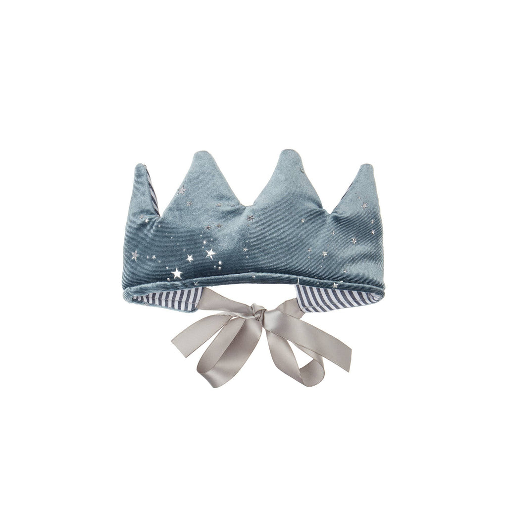 Mystical crown - grey - super soft velvet crown by Mimi and Lula, available at Bobby Rabbit.