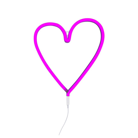 Neon Pink Heart Light by A Little Lovely Company, available at Bobby Rabbit.