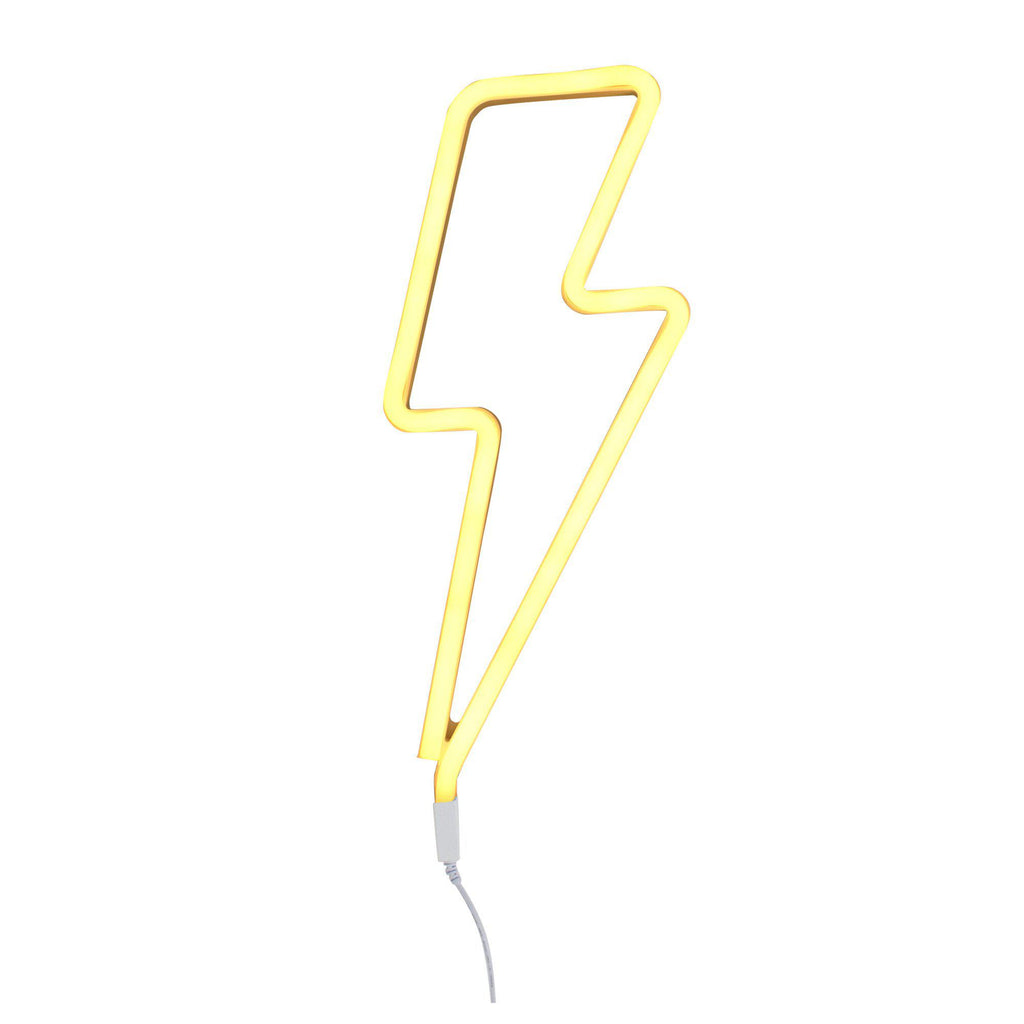 Neon Yellow Lightning Bolt Light by A Little Lovely Company, available at Bobby Rabbit.