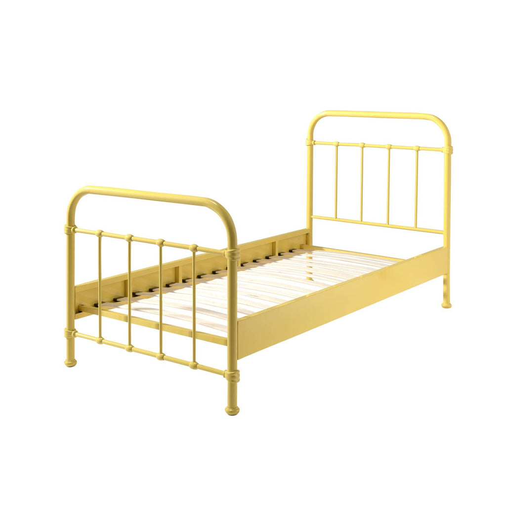 'New York' Yellow Metal Single Bed by Vipack, available at Bobby Rabbit.