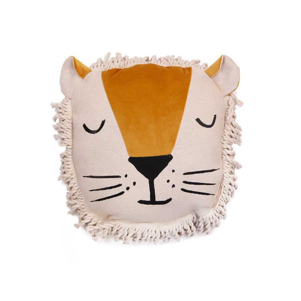 Lion Cushion by Nobodinoz, available at Bobby Rabbit.