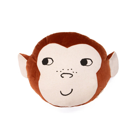 Monkey Cushion by Nobodinoz, available at Bobby Rabbit.