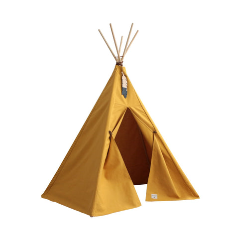 Nevada Teepee Tent - Farniente Yellow by Nobodinoz, available at Bobby Rabbit.