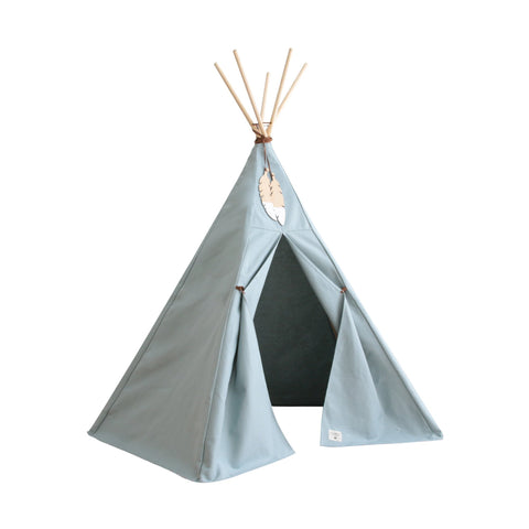 Nevada Teepee Tent - Riviera Blue by Nobodinoz, available at Bobby Rabbit.