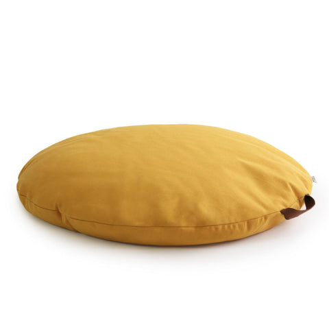 Sahara Bean Bag - Farniente Yellow by Nobodinoz, available at Bobby Rabbit.