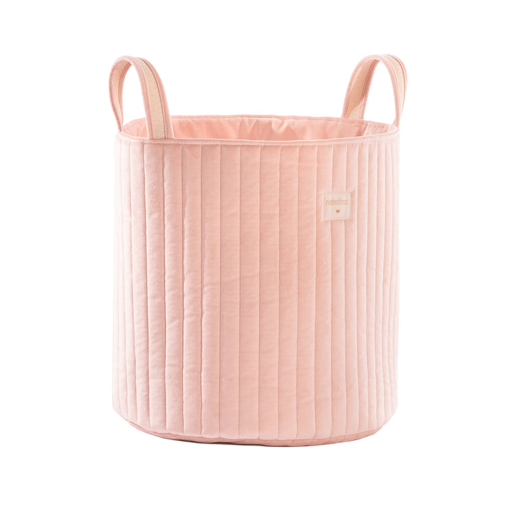 Savanna Velvet Toy Bag - Bloom Pink by Nobodinoz, available at Bobby Rabbit.