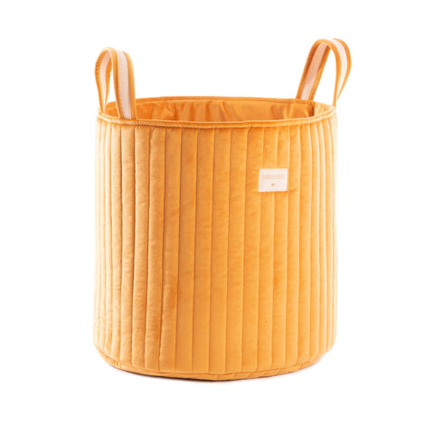 Savanna Velvet Toy Bag - Farniente Yellow by Nobodinoz, available at Bobby Rabbit.