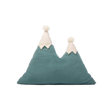 Snowy Mountain Cushion by Nobodinoz, available at Bobby Rabbit.