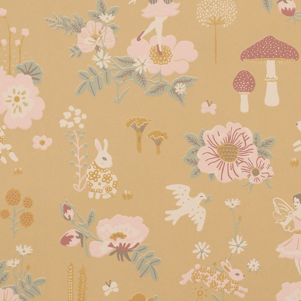 Old Garden Wallpaper by Majvillan, available at Bobby Rabbit. Free UK Delivery over £75