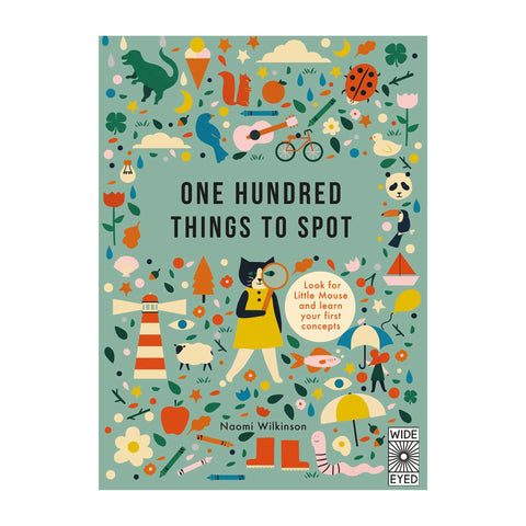 One Hundred Things to Spot by Anna Kovecses - children's number and counting book, available at Bobby Rabbit.