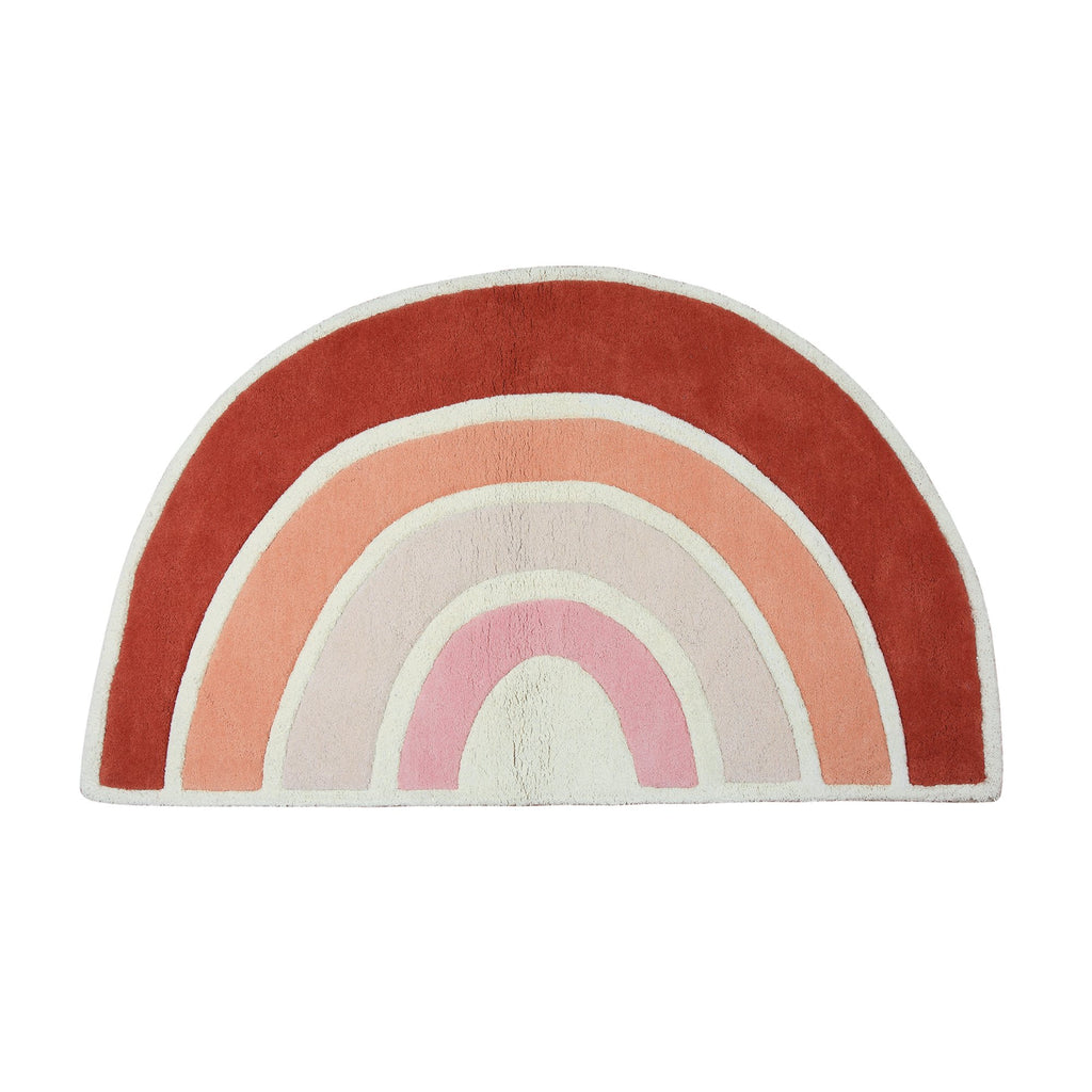Orange Rainbow Rug by Lilipinso, available at Bobby Rabbit.