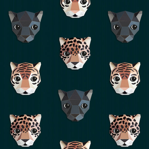 Panthera Wallpaper by Studio Ditte, available at Bobby Rabbit.