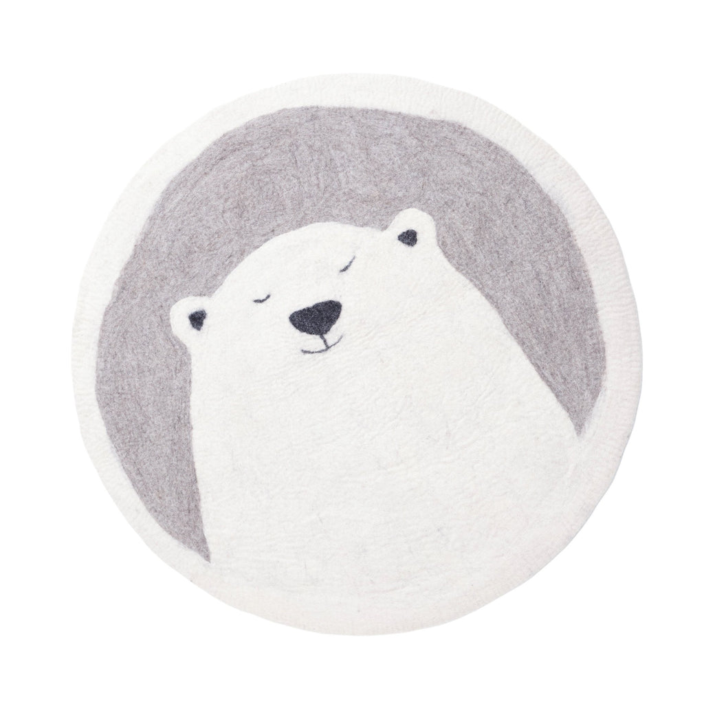 Felt Grizzly Bear Rug 'Pasu' by Muskhane, available at Bobby Rabbit.