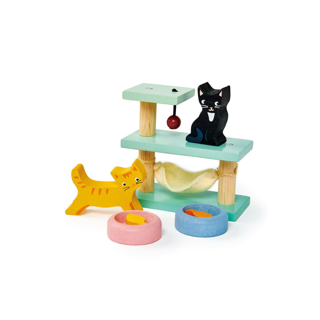 Pet Cats Set Wooden Toy by Tenderleaf Toys, available at Bobby Rabbit.