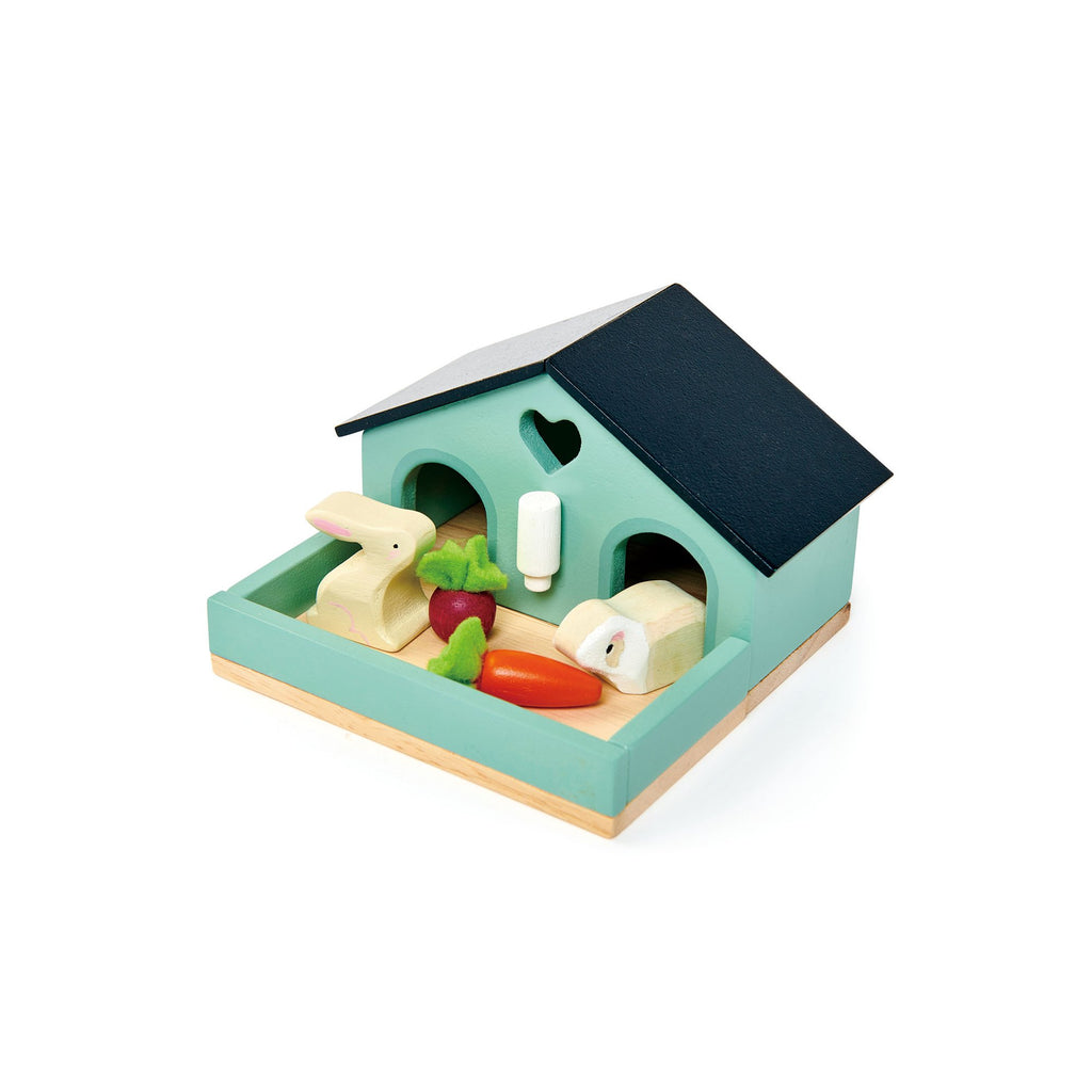Pet Rabbit Set Wooden Toy by Tenderleaf Toys, available at Bobby Rabbit.