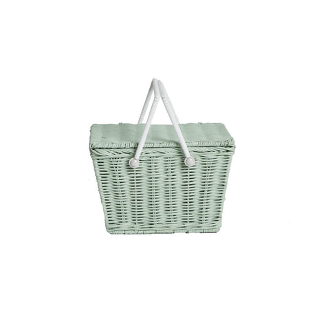 Mint Piki Basket by Olli Ella, available at Bobby Rabbit.