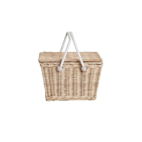 Straw Piki Basket by Olli Ella, available at Bobby Rabbit.
