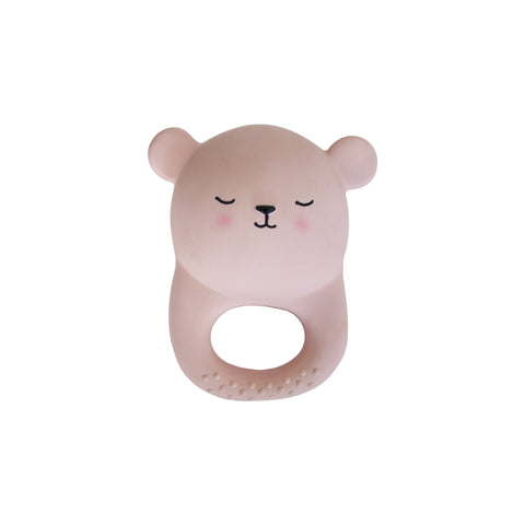 Pink Bear Teething Toy by Eef Lillemor, available at Bobby Rabbit.