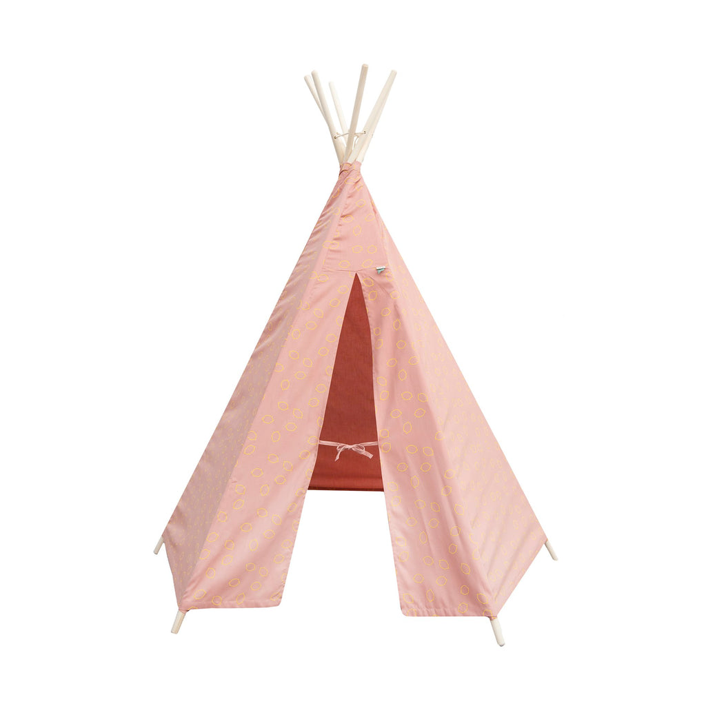 Pink Lemon Squash Teepee Tent by Trixie, available at Bobby Rabbit.