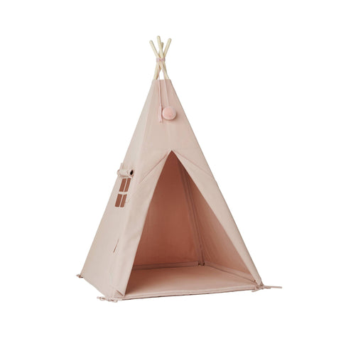 Pink Pom Pom Teepee Tent by Nununu, available at Bobby Rabbit.