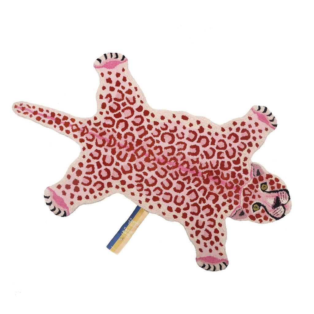Pinky Leopard Rug (Large) by Doing Goods, available at Bobby Rabbit.