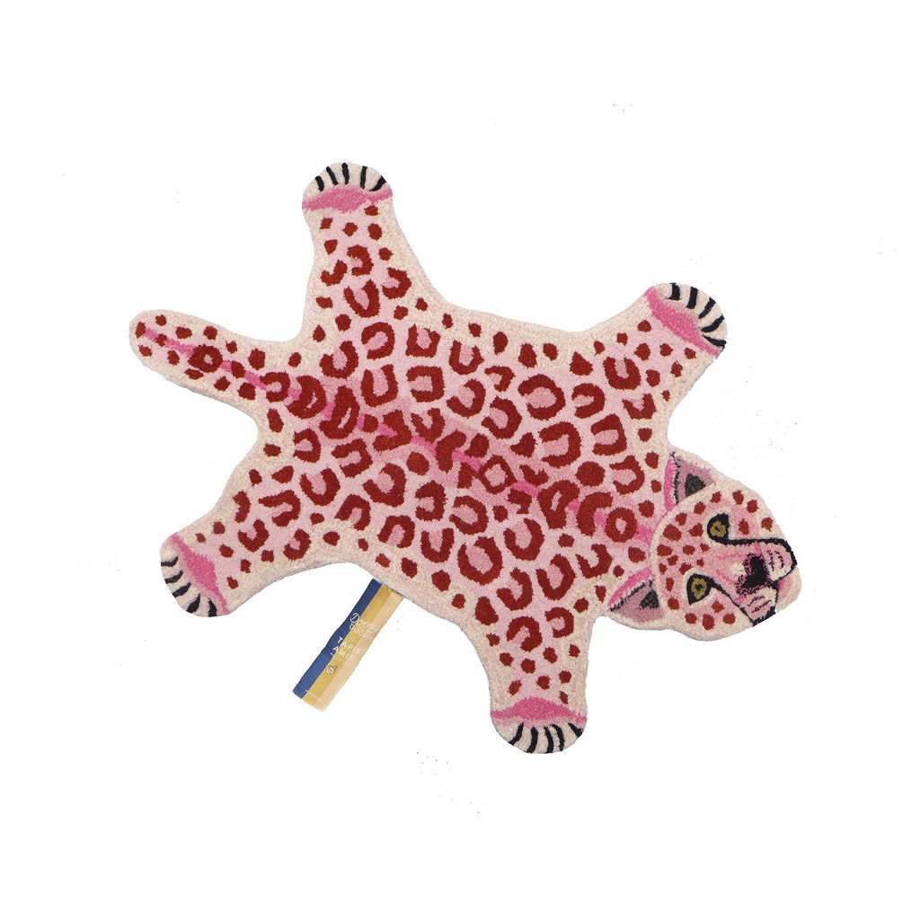 Pinky Leopard Rug (Small) by Doing Goods, available at Bobby Rabbit.