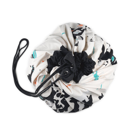 Play & Go Reversible Toy Storage Bag - World Map/Stars, available at Bobby Rabbit.