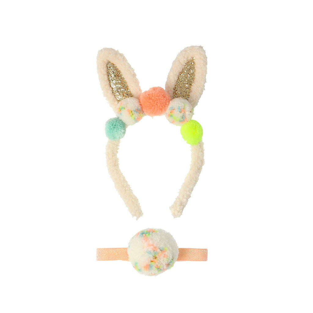 Pom Pom Bunny Ear Dress Up Set by Meri Meri, available at Bobby Rabbit.
