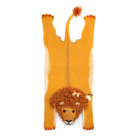 Prince Leopold felt lion rug, made in Nepal by Sew Heart Felt and available at Bobby Rabbit.