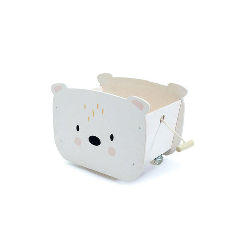 Pull Along Bear Cart by Tender Leaf Toys, available at Bobby Rabbit.