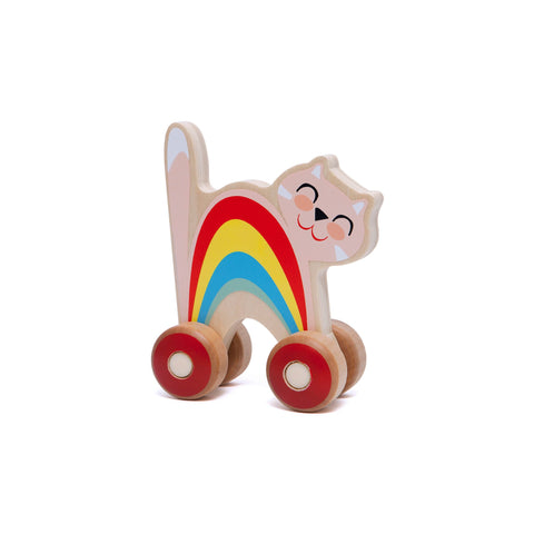 Push Along Cat by Petit Monkey, available at Bobby Rabbit.