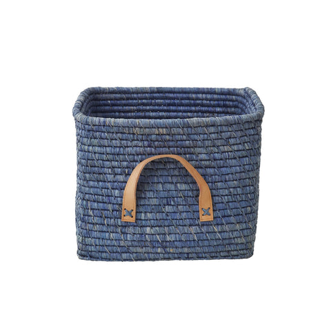 Blue Raffia Storage Basket by Rice, available at Bobby Rabbit.