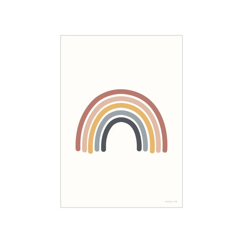 Rainbow A3 Print by Munks and Me, available at Bobby Rabbit.