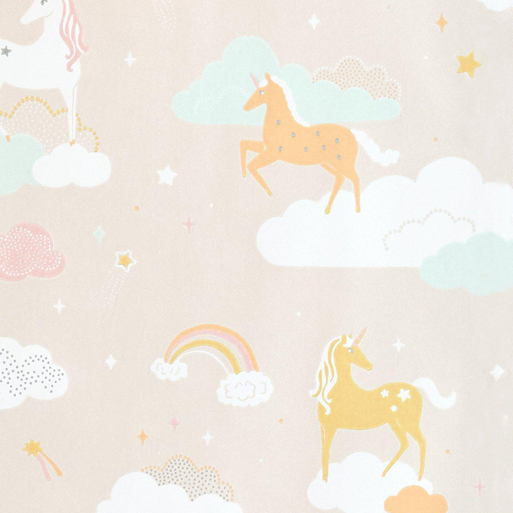 Rainbow Treasures Wallpaper by Majvillan, available at Bobby Rabbit.