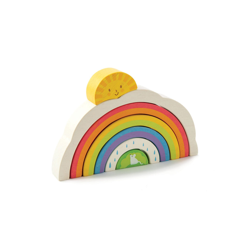 Rainbow Tunnel Wooden Toy by Tenderleaf Toys, available at Bobby Rabbit.